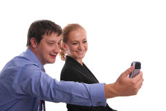 Businessmen and businesswoman Stock Photos