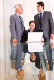 Businessmen and businesswoman during a meeting Royalty Free Stock Image