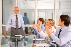 Businessmen and businesswomen Stock Image