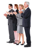 Businessmen and businesswomen applauding Royalty Free Stock Image