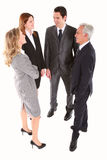 Businessmen and businesswomen chatting Royalty Free Stock Photo