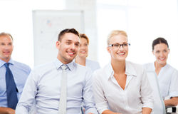 Businessmen and businesswomen on conference Stock Image
