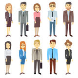 Businessmen businesswomen employee vector people characters various business outfits Royalty Free Stock Image