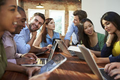 Businessmen And Businesswomen Meeting To Discuss Ideas Stock Photography