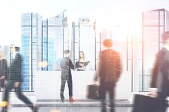 Businessmen and businesswomen, reception Royalty Free Stock Images