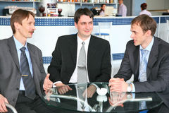 Businessmen in cafe Royalty Free Stock Photos