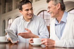 Businessmen in cafe Stock Photos