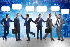 The businessmen with callout bubble blank message Royalty Free Stock Image