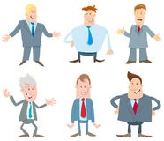 Businessmen cartoon vector characters collection royalty free illustration