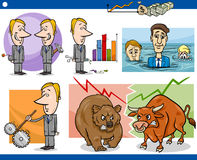 Businessmen cartoon concepts set Stock Photography