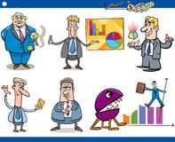 Businessmen cartoon concepts set Stock Photos