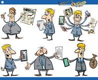 Businessmen cartoon set Stock Images