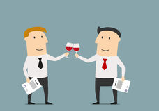 Businessmen celebrating the signing of contract Stock Images