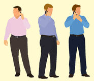 Businessmen On Cell Phone Royalty Free Stock Image
