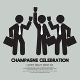 Businessmen With Champagne Celebration Stock Image