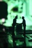 Businessmen circuit board C Stock Images