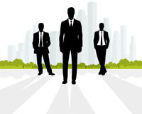 Businessmen at city background Stock Image