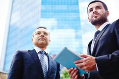 Businessmen in the city Stock Photography