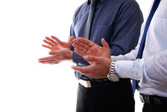 Businessmen clapping Stock Photography