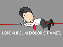 Businessmen are climbing the rope Stock Photo
