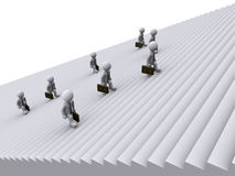 Businessmen are climbing stairs. 3d businessmen are tired of climbing stairs Royalty Free Stock Photos