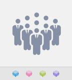 Businessmen Company - iconos del granito Imágenes de archivo libres de regalías