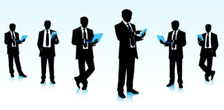 Businessmen with computers Stock Image