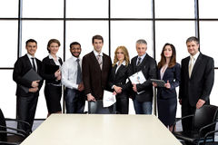 Businessmen in the conference hall. Stock Images