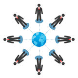 Businessmen connection royalty free stock images