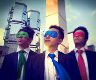 Businessmen Corporate Superhero City Concepts Royalty Free Stock Images