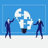 Businessmen creating ideas, vector illustration Royalty Free Stock Photo