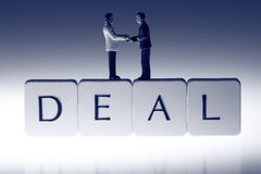 Businessmen deal handshake A Royalty Free Stock Photos
