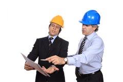 Businessmen debating Stock Photography