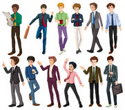 Businessmen in different clothes Stock Photography