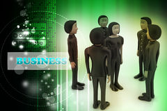 businessmen Direzione e gruppo illustrazione di stock