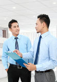 Businessmen discussing Stock Photo