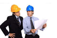 Businessmen discussing a contract Royalty Free Stock Images