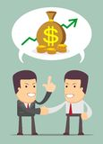 Businessmen Discussion about profit. Businessmen Discussion - a Men talk about business prospects. Stock Vector illustration royalty free illustration