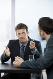 Businessmen at discussion Royalty Free Stock Photo