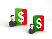 Businessmen with dollar sign Royalty Free Stock Image