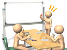Businessmen are eager to brainstorm ideas. Stock Photos