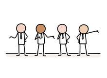 Businessmen Entrepreneurship Partners Group Doodle Stock Photo