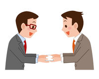 Businessmen exchanging business cards Royalty Free Stock Images