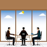 Businessmen or executives in a meeting or discussion - vector gr stock illustration