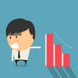 Businessmen is falling stocks. Cartoon concept Royalty Free Stock Photo