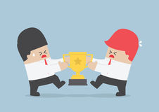 Businessmen fight for the trophy. VECTOR, EPS10 Stock Photos