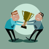 Businessmen fight for trophy. Stock Image