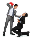 Businessmen fighting Royalty Free Stock Photos