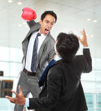 Businessmen fighting Stock Photo