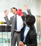 Businessmen fighting Royalty Free Stock Images
